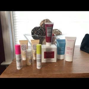 Various high end skin products